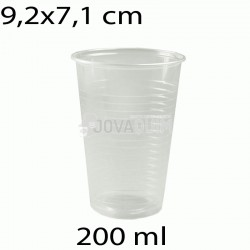 100 vasos desechables transparentes 200 ml