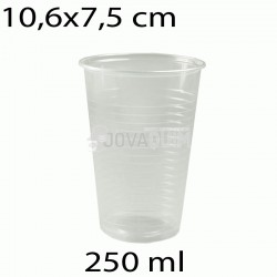 100 vasos desechables transparentes 250ml