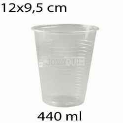 50 vasos desechables transparentes 440ml