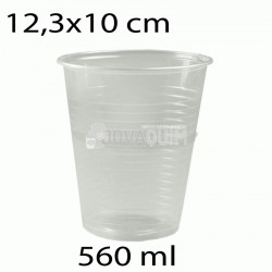 50 vasos desechables transparentes 560ml