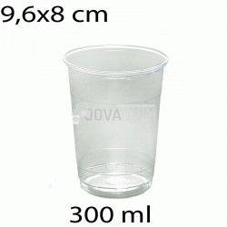 2000 vasos desechables transparentes 300ml