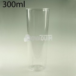 500 Vasos de tubo PS 300ml transparentes
