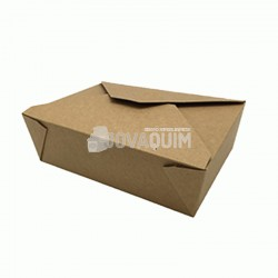 300 Caja take-away Kraft mediana