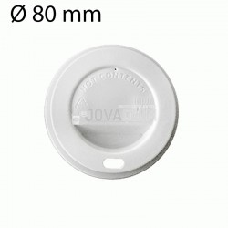 100 tapas blancas vaso 240 ml 8oz