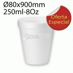 1000 Vasos Térmicos Hiper foam 8 oz 250ml