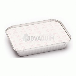 500 tapas envases rectangular 590ml