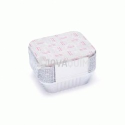 25 envases y tapas rectangulares 475ml
