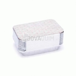 25 envases y tapas rectangulares 590ml