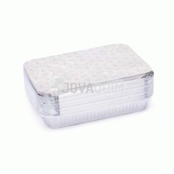 25 envases y tapas rectangulares 1500ml