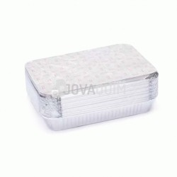 25 envases y tapas rectangulares 2200ml